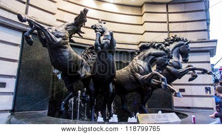 Popular  The Horses Of Helios, Also Known As The Four Bronze Horses Of Helios  Fountain At Famous Pi