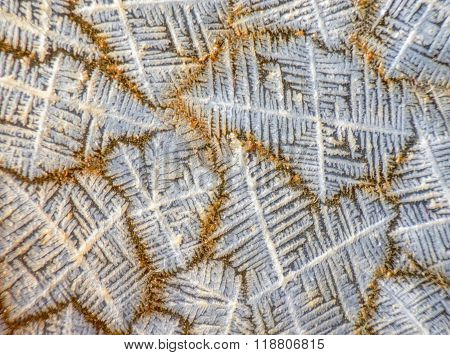 Closeup view of salt crystal structure pattern