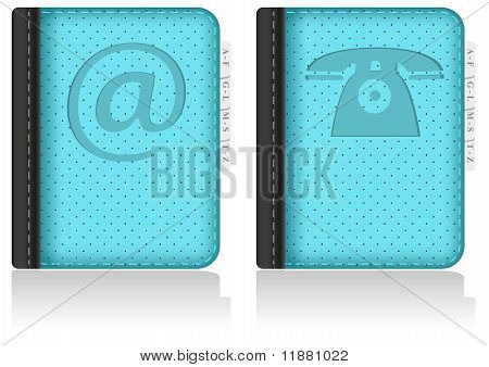 Adressbook, notebook, phonebook. Vector.