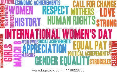 International Women's Day Word Cloud