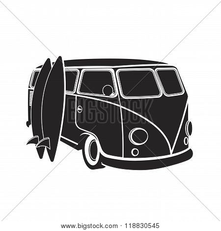 Old Car And Surfing, Sport Board