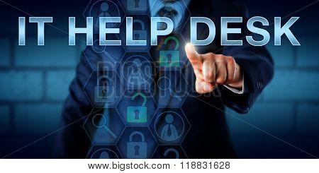 Corporate User Touching It Help Desk