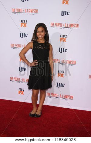 LOS ANGELES - JAN 27:  Asia Monet Ray at the American Crime Story - The People V. O.J. Simpson Premiere at the Village Theater on January 27, 2016 in Westwood, CA