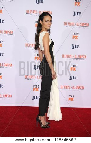 LOS ANGELES - JAN 27:  Jordana Brewster at the American Crime Story - The People V. O.J. Simpson Premiere at the Village Theater on January 27, 2016 in Westwood, CA