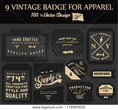 vintage element badge label set 2