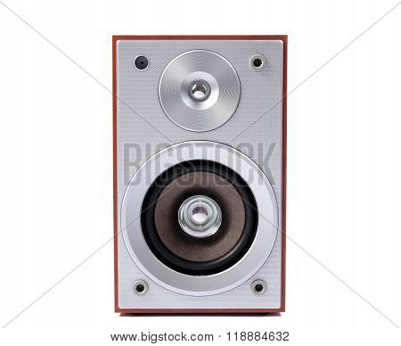 Stereo Sound System Isolated On White Background