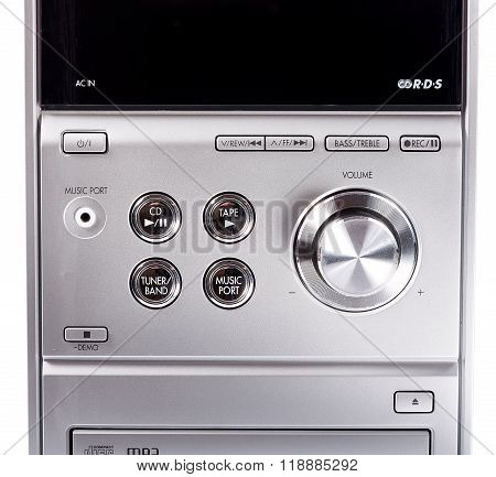 Compact stereo system cd and cassette player. Compact stereo system poster
