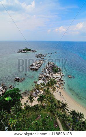 Beach with Large Granite Stones
