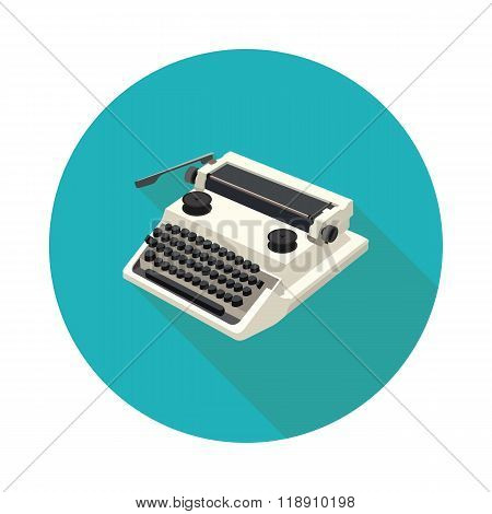 Flat Icon Typewriter