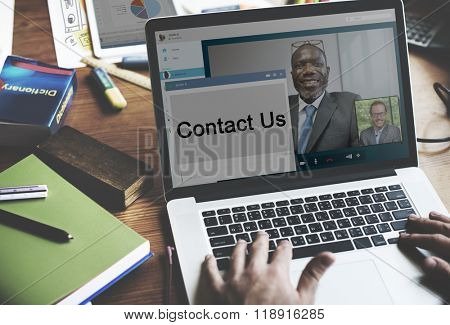 Contact us Communication Networking Business Concept