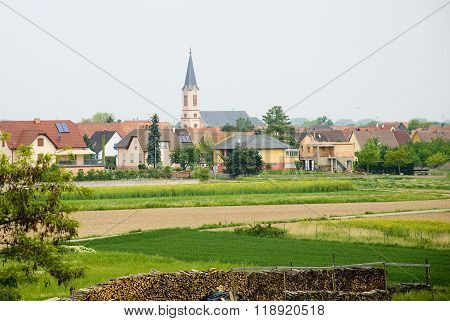 Germany. Small Beautiful German Town In The Spring.
