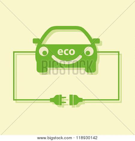 Eco car concept. Vector.