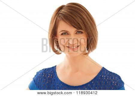 Portrait of attractive woman looking at camera