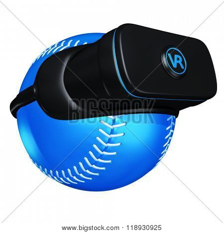 Virtual Reality VR Baseball Goggles Glasses Headset Device