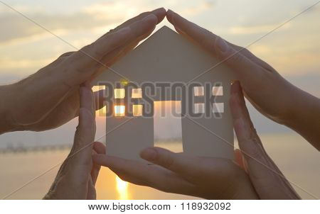 Hands on cut out house diagram