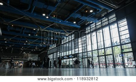 Inside the Georges Pompidou Centre in France