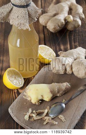 Ginger And Lemon Syrup