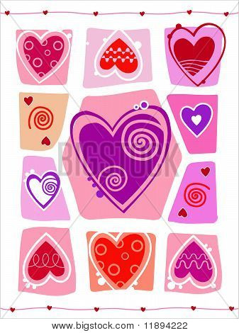 Abstract Valentines Day design with Heart.