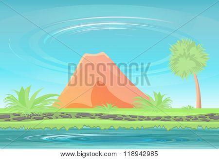 Paradise island. Inactive volcano.