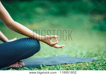 Yoga Detail From Lotus Position