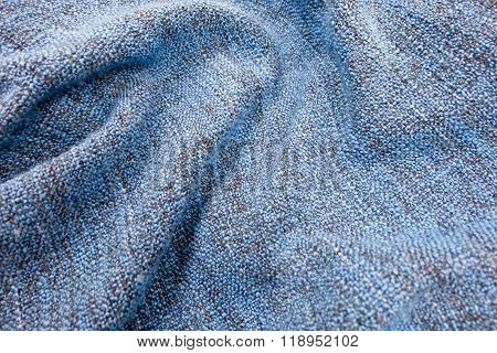Detail Of The Blue Blanket Textile Texture