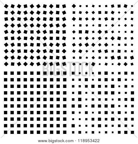 Optical Illusion. Squares Patterns