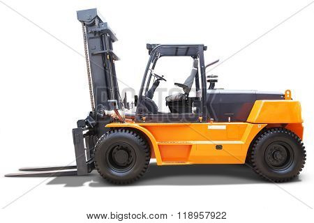 Forklift Truck With Yellow Color