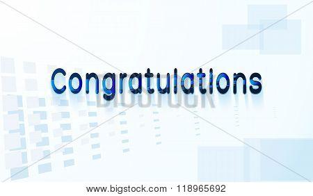 Congratulations Text.