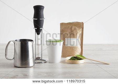 Frother Matcha Sale Presentation Tea Latte