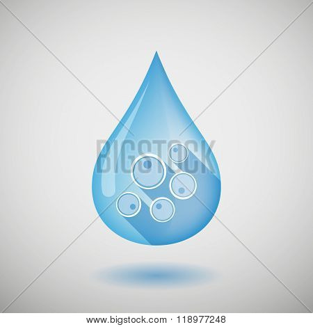 Long Shadow Water Drop Icon With Oocytes
