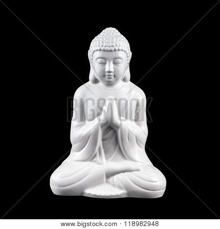 White Buddha Statuette