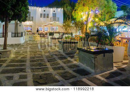 The Tria Pigadia, In Mykonos