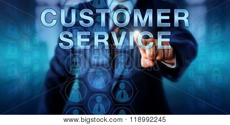 Business Manager Pressing Customer Service