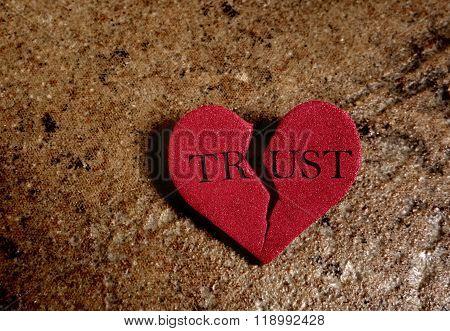 Broken Trust Heart