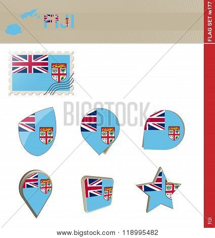 Fiji Flag Set, Flag Set