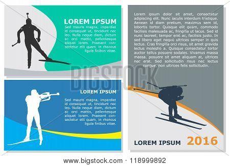 Vector Biathlon Flyer Template
