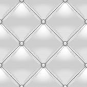 White button-tufted leather background. White upholstery seamless pattern poster