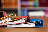 Ring Binders Authority File Research Document Binders Stack poster