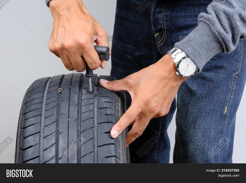 Tire Repair Kit Image Photo Free Trial Bigstock