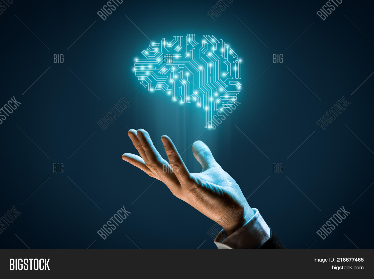 Brain Printed Circuit Image Photo Free Trial Bigstock Board Machine With Pcb Design And Businessman Representing Artificial Intelligence Ai