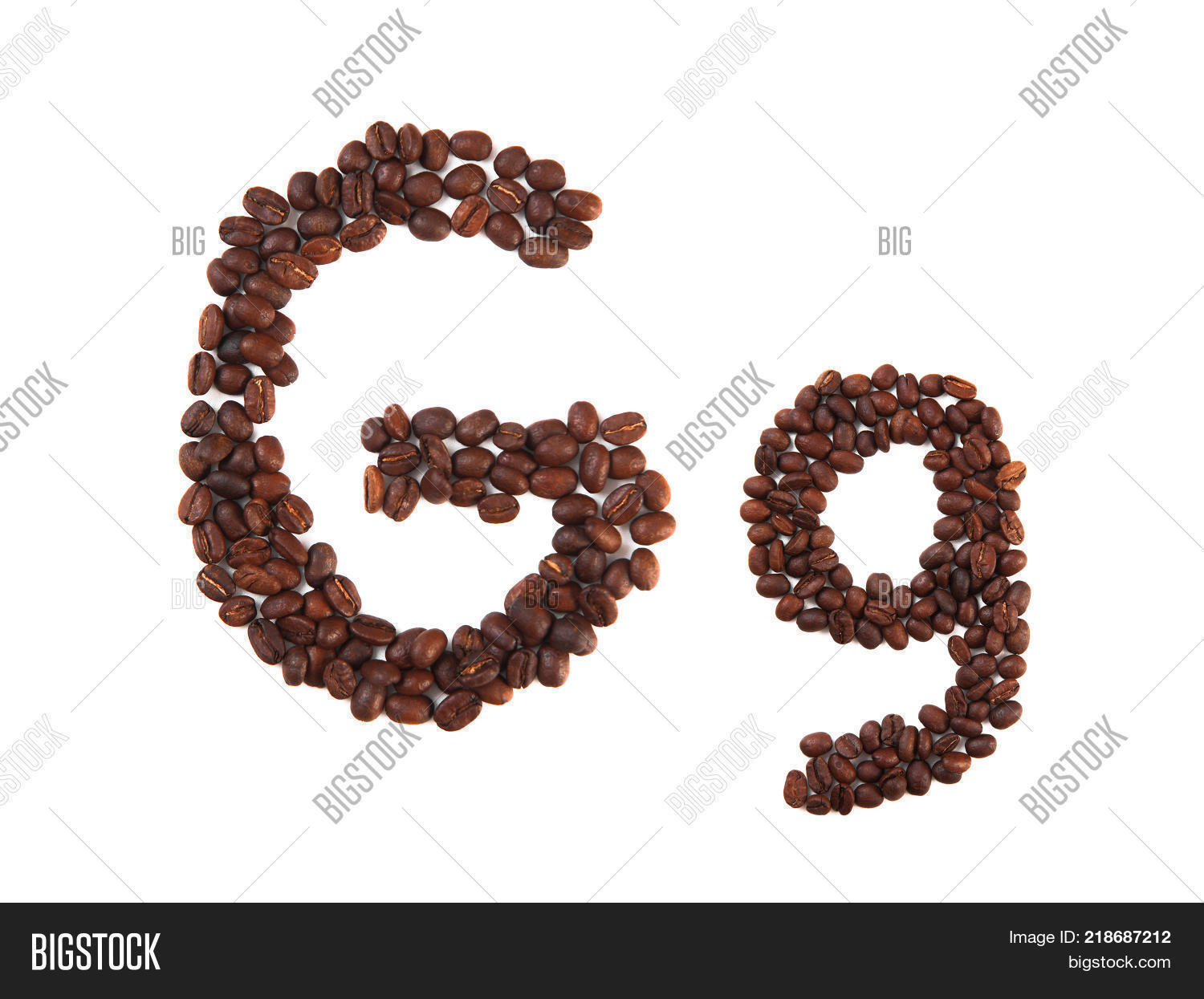 Letter G Made Coffee Image Photo Free Trial Bigstock
