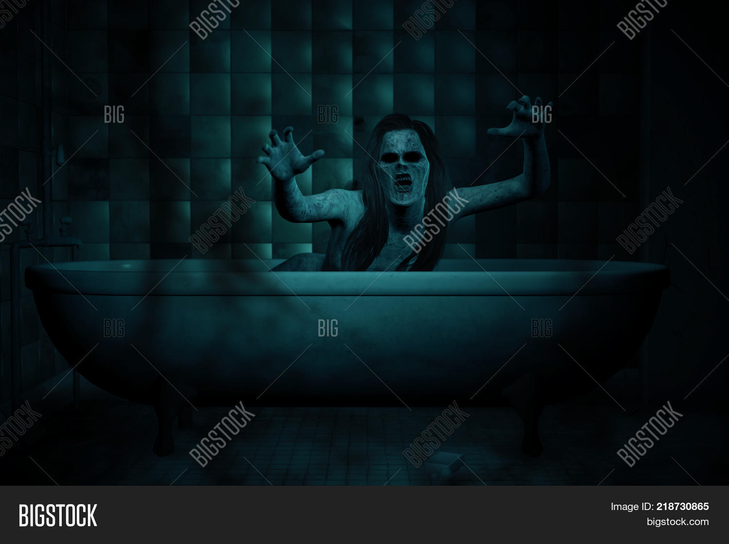 3d Illustration Scary Image & Photo (Free Trial) | Bigstock