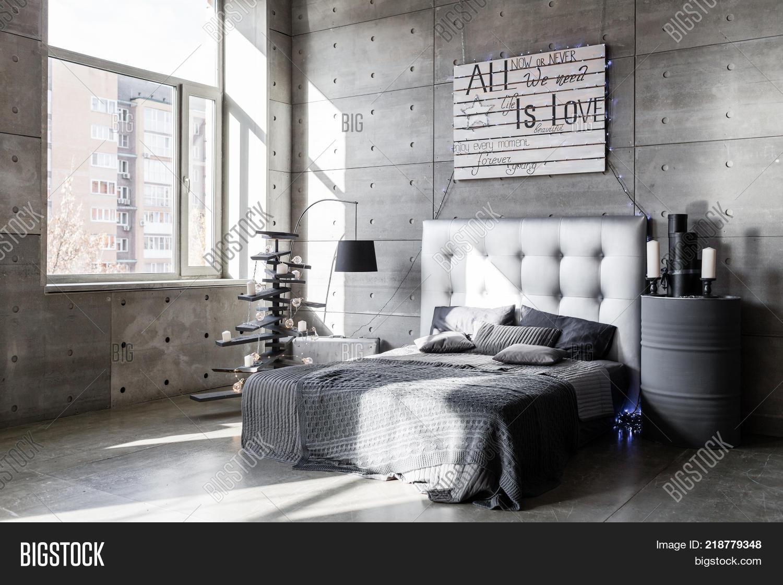 Modern Empty Bedroom Image Photo Free Trial Bigstock