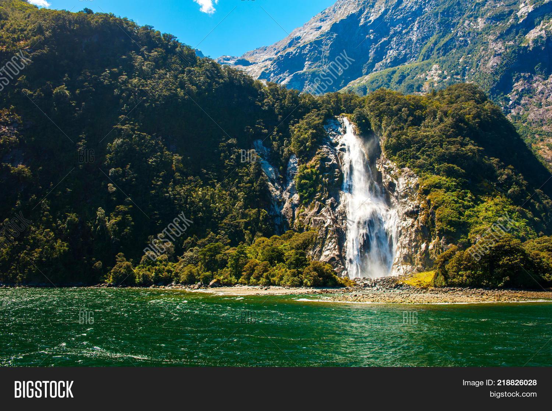Bowen Falls Waterfall Image Photo Free Trial Bigstock