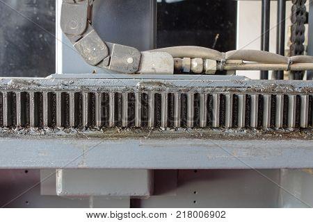The Sliding gear of forklifts for forklift fork control