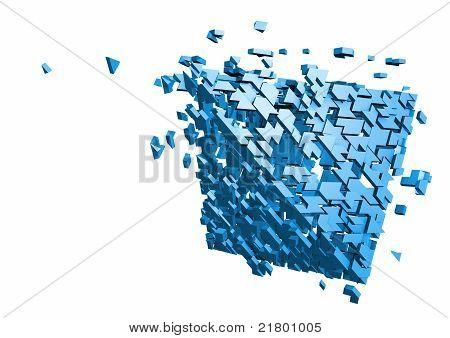 Shattered pyramid