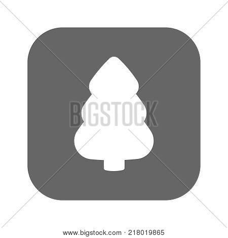 Fir-tree icon. Fir-tree vector logo. Flat design style. Modern vector pictogram for web graphics - stock vector. Illustration eps10