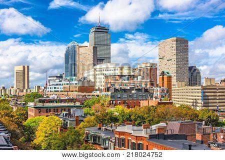 Boston, Massachusetts, USA city skyline.