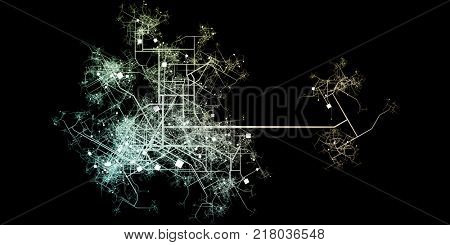 City Blueprints or Blueprint to Roads and Water System
