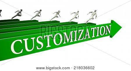 Customization Opportunities as a Business Concept Art 3d Render
